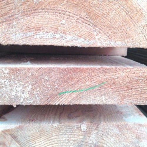 Обрезная доска из лиственницы 50x300x6000 мм