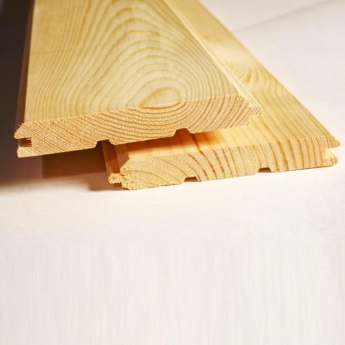 Имитация бруса из лиственницы класс Экстра 20x140x2000 мм