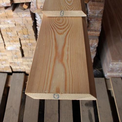 Планкен из лиственницы Скошенный класс В 20x140x3000 мм